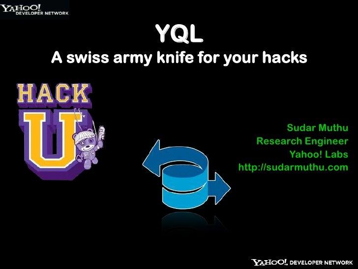 Hack u yql-iit-delhi