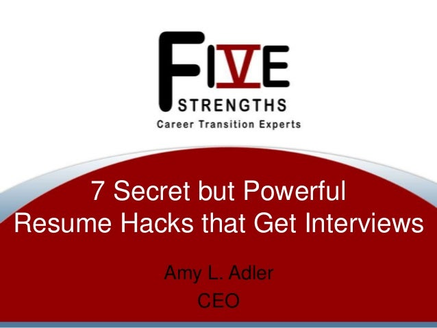 7 secret but powerful resume hacks that get interviews