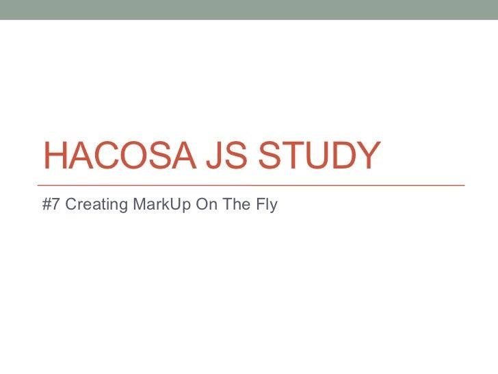Hacosa js study 5th