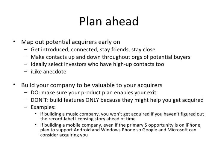 business plan exit strategy example