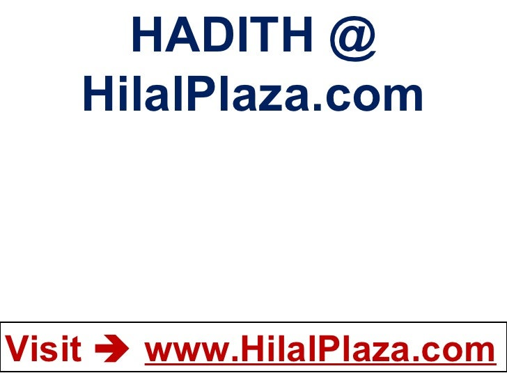 HADITH @ HilalPlaza.com