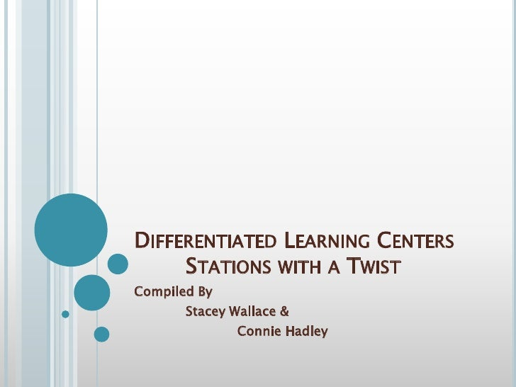 Differentiated Learning Centers	Stations with a Twist<br />Compiled By <br />	Stacey Wallace & <br />		Connie Hadley<br />