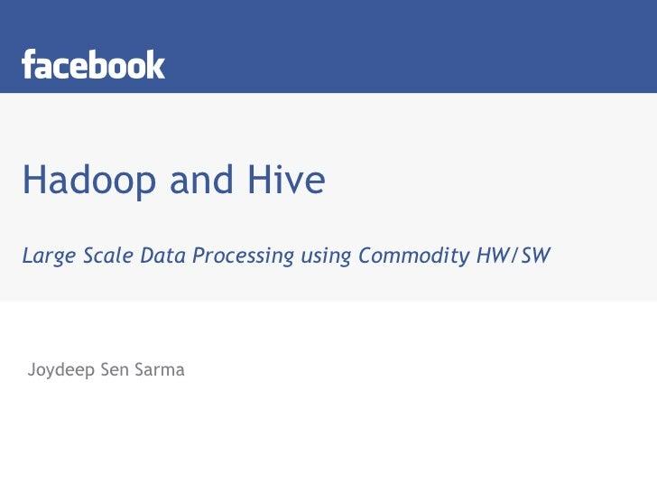 Hadoop Hive Talk At IIT-Delhi