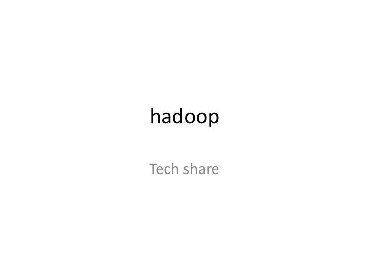 hadoopTech share