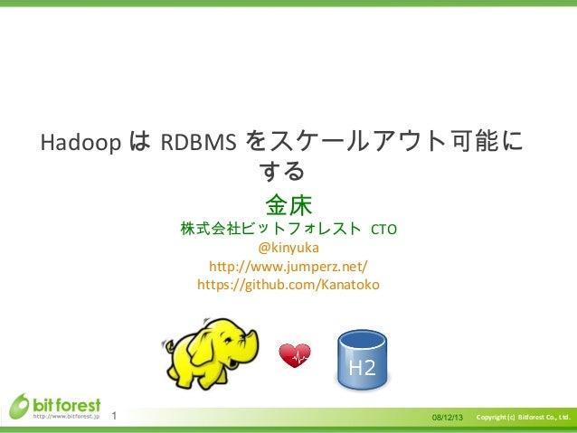 Hadoop loves H2