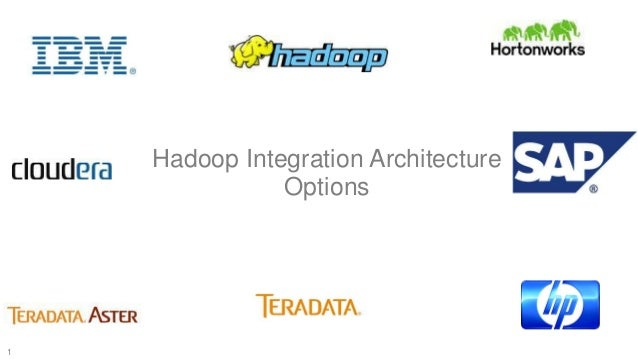Hadoop Integration Architecture Options  1