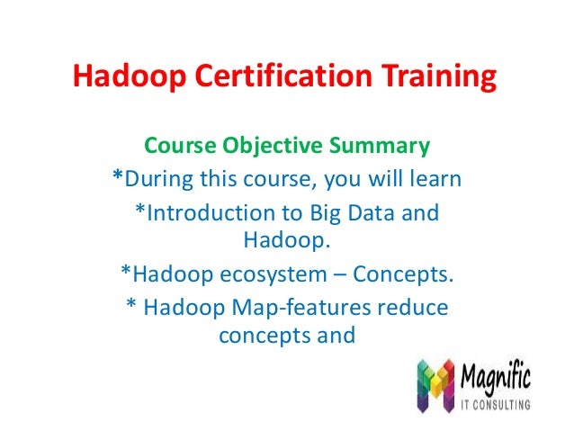 Hadoop certification training