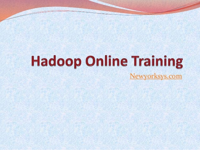 Hadoop online training classes