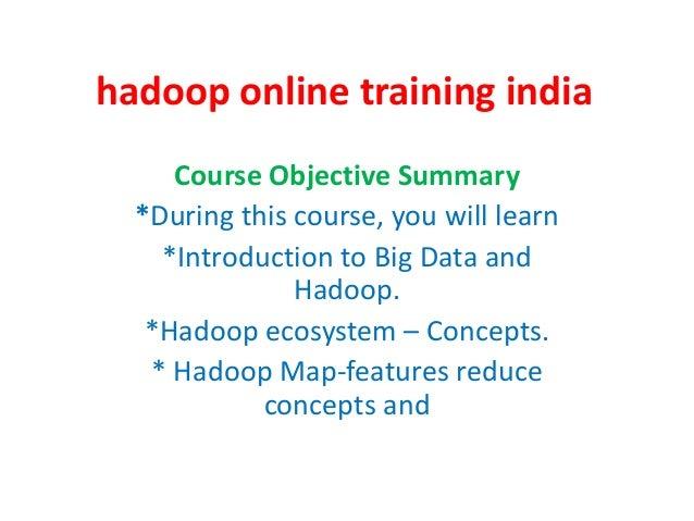 Hadoop online training india