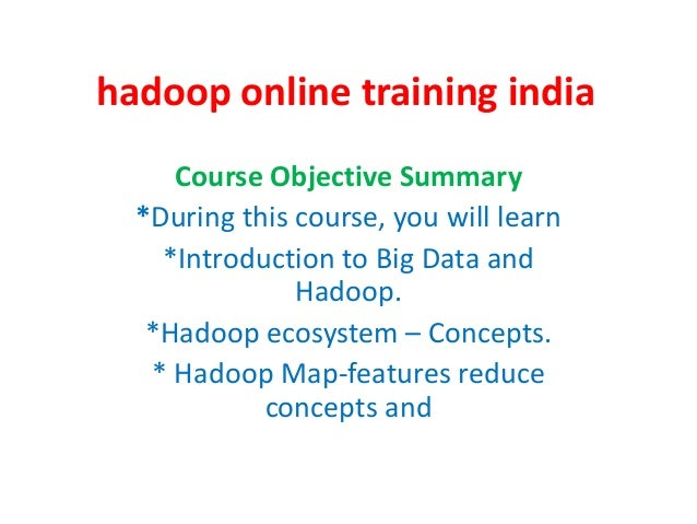 Hadoop online training india
