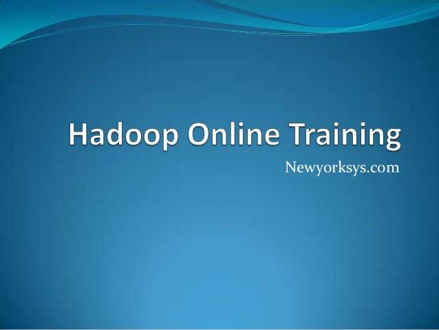 Hadoop online training overview