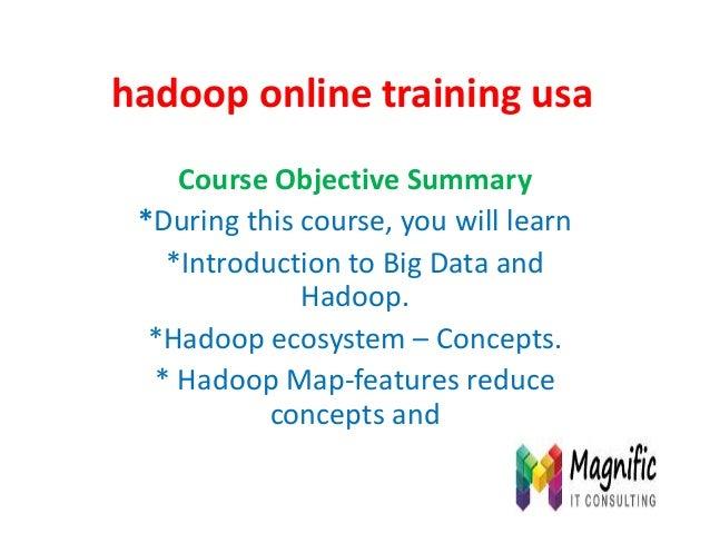 Hadoop online training usa
