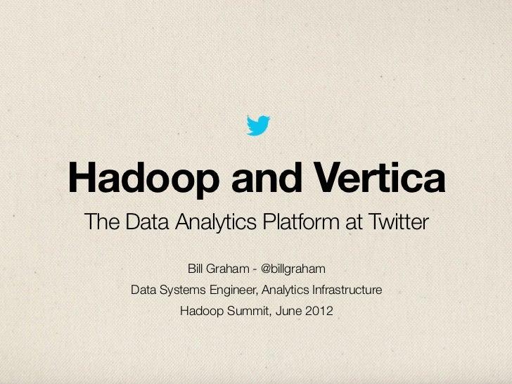 Hadoop Summit 2012 - Hadoop and Vertica: The Data Analytics Platform at Twitter