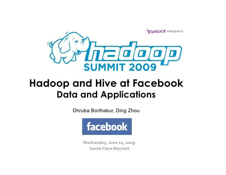 Facebook Hadoop Data & Applications
