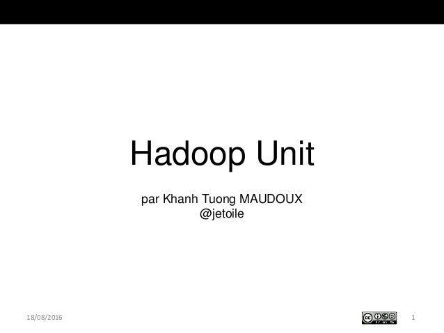 Hadoop Unit par Khanh Tuong MAUDOUX @jetoile 118/08/2016