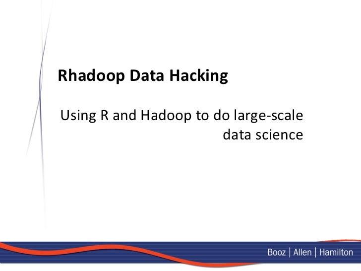 Data Hacking with RHadoop