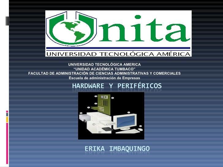 """UNIVERSIDAD TECNOLÓGICA AMERICA """" UNIDAD ACADÉMICA TUMBACO"""" FACULTAD DE ADMINISTRACIÓN DE CIENCIAS ADMINISTRATIVAS Y COMER..."""