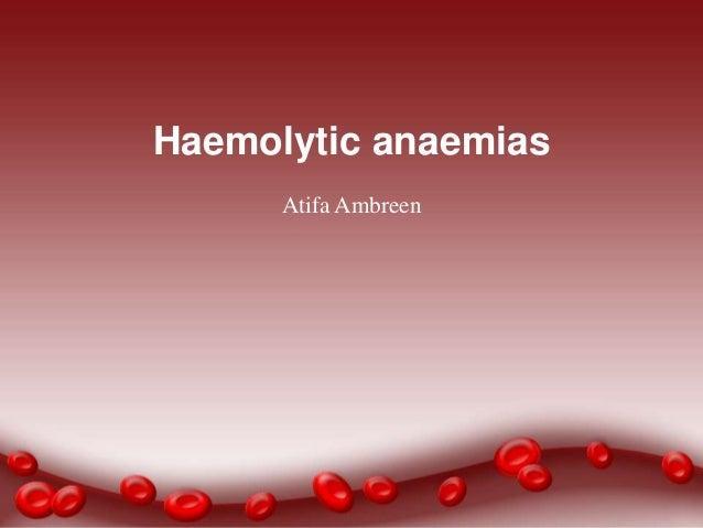 Haemolytic anaemia by Afa