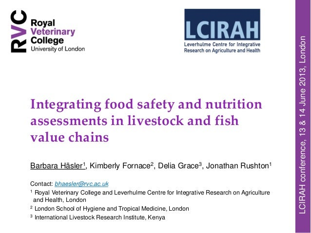 Integrating food safety and nutrition assessments in livestock and fish value chains