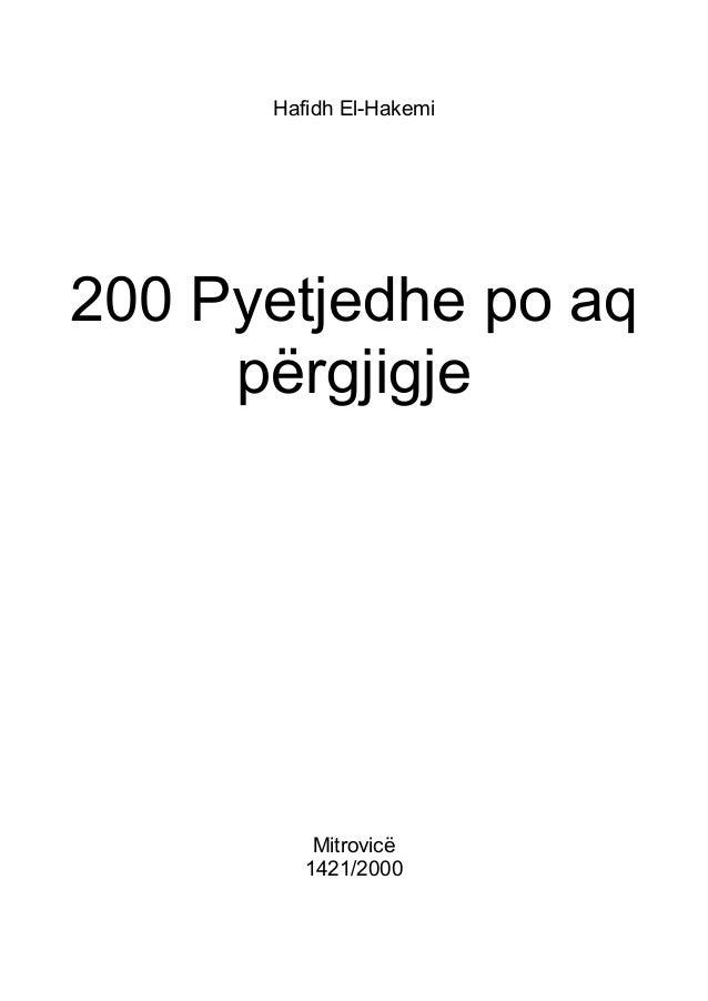 Hafidh El-Hakemi  200 Pyetjedhe po aq përgjigje  Mitrovicë 1421/2000