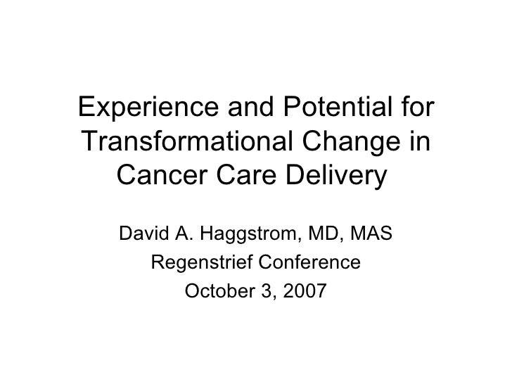 David Haggstrom Regenstrief Conference Slides