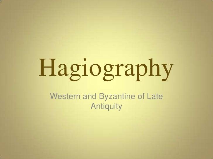 Hagiography I