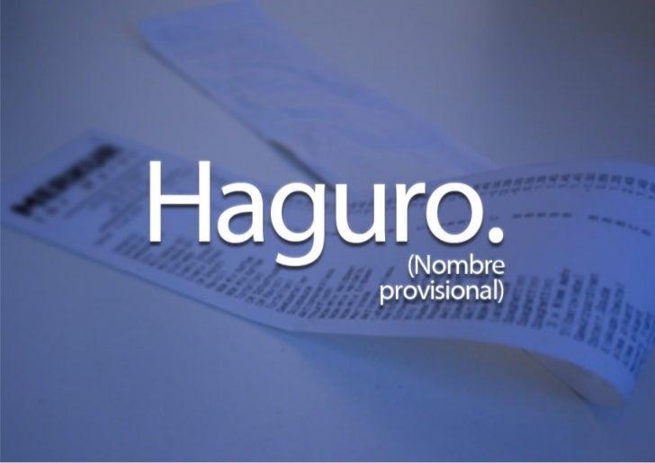 Haguro (nombre provisional), presentación en PrimerViernes