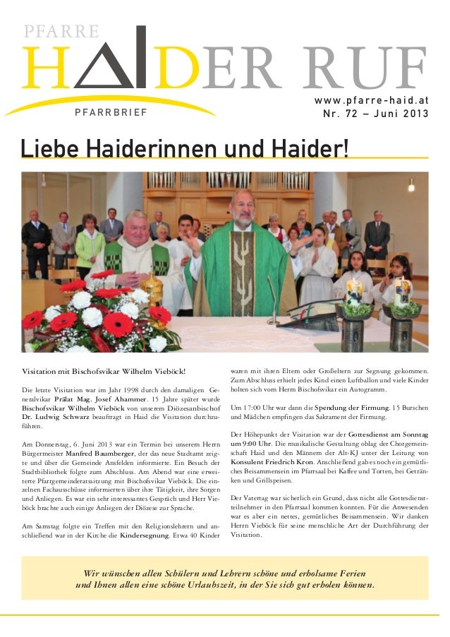 H∆IDER RUFPFARREP FA R R B R I E Fwww.pfarre-haid.atNr. 68 – Dezember 2011gendleiterin Helene Schrems, Alois Neu-böck als ...