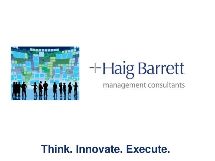 Haig Barrett Overview Sustainovation Group