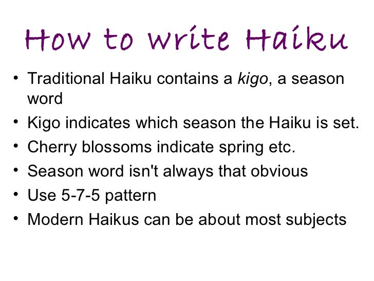 How To Write A Haiku Poemjpg | Apps Directories