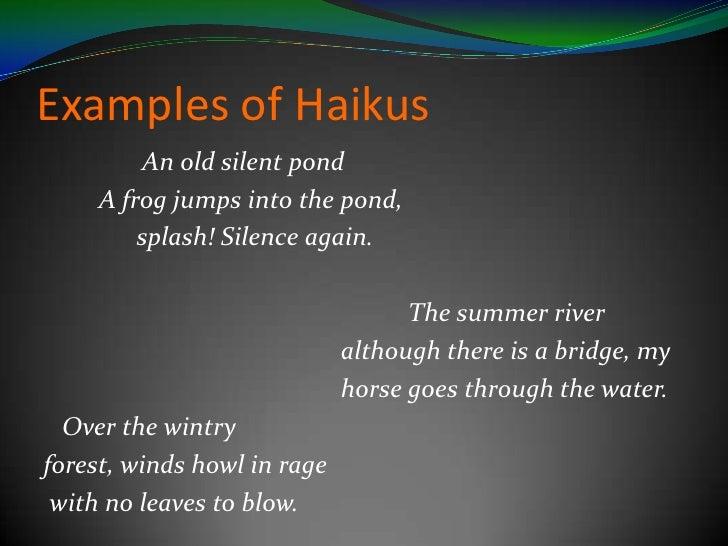 how to make a haiku poem