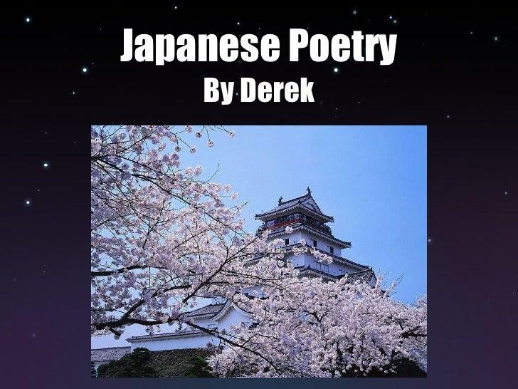 Japanese Poetry By Derek