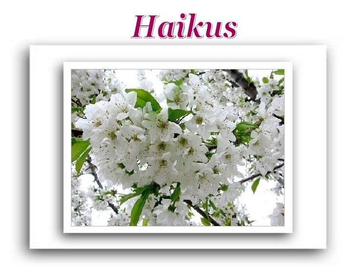 O haiku é uma forma de poesia breve, bela esimples originária do Japão. Tem três versoscurtos, sem rima, que apresentam, r...