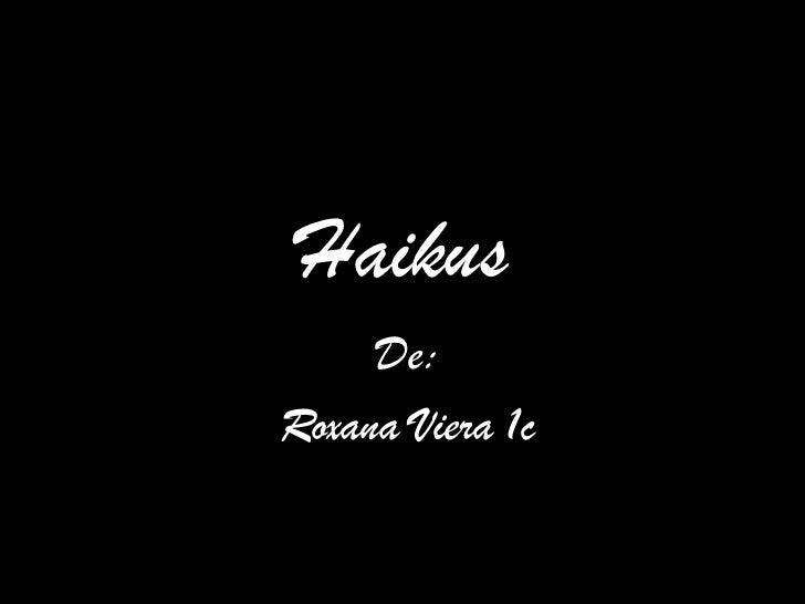 Haikus de castellano
