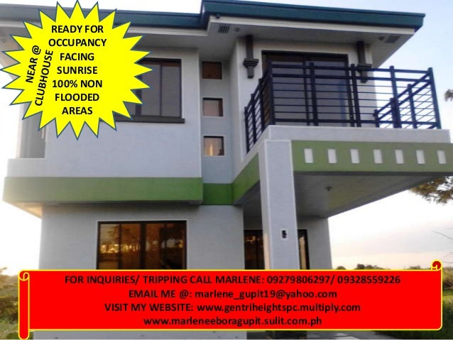 House And Lot Ready For Occupancy Facing Sunrise 120sqm