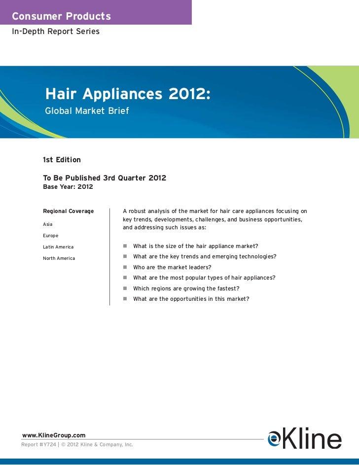 Hair Appliances 2012 Global Market Brief - Brochure