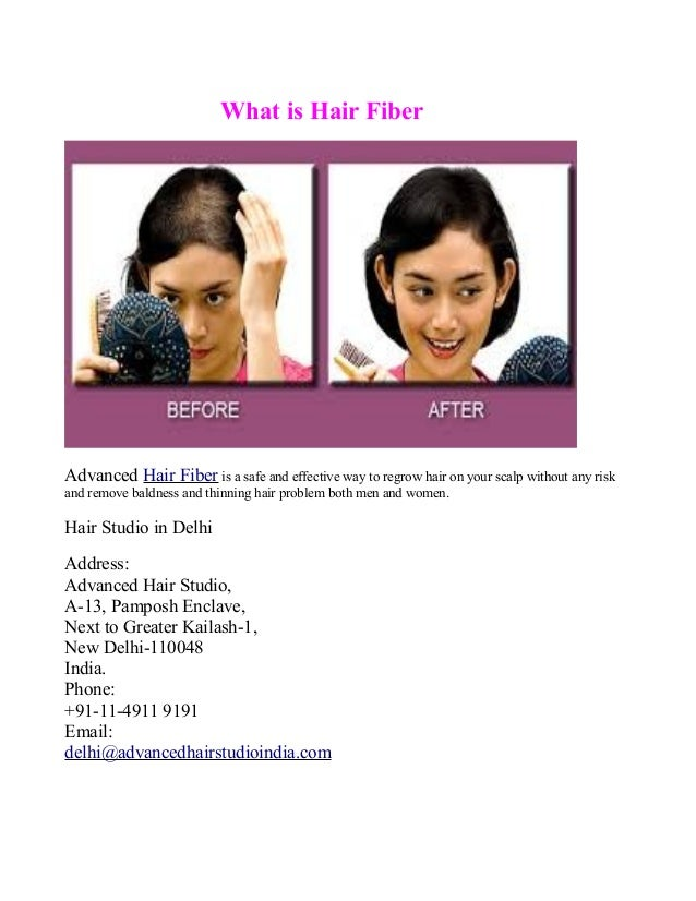 What is Hair Fiber  Advanced Hair Fiber is a safe and effective way to regrow hair on your scalp without any risk and remo...