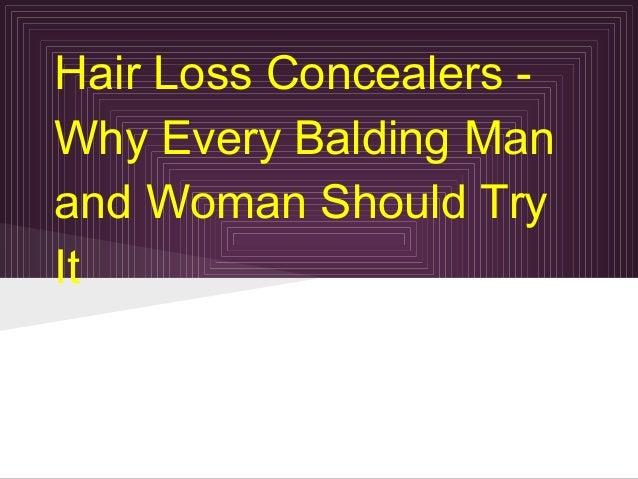 Hair loss concealers