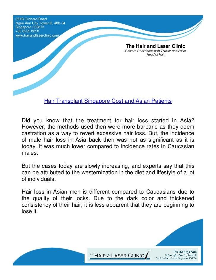 Hair Transplant Singapore Cost