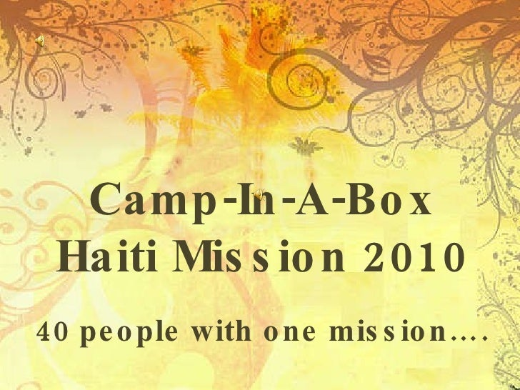 Haiti - Camp-in-a-Box