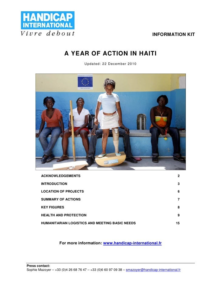 Haiti -  one year later
