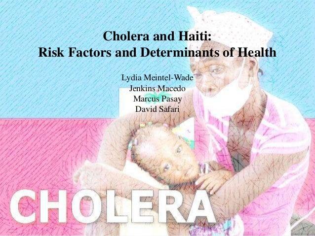 Cholera and Haiti:Risk Factors and Determinants of Health             Lydia Meintel-Wade               Jenkins Macedo     ...