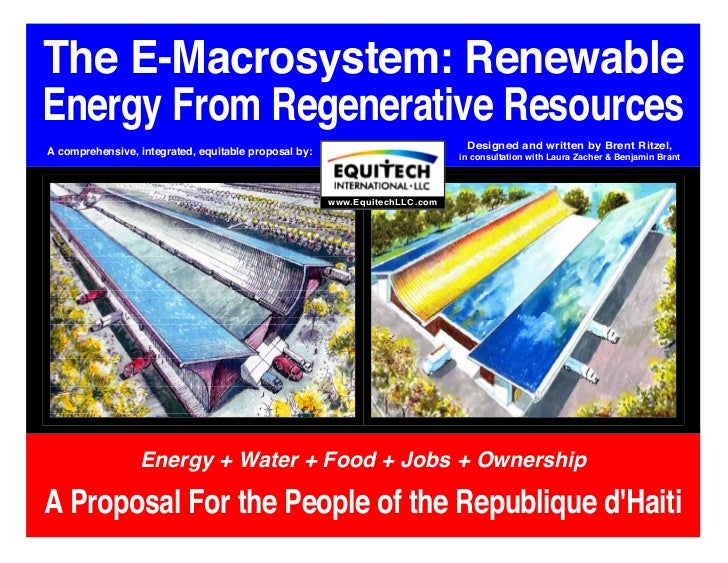 The E-Macrosystem: RenewableEnergy From Regenerative Resources                                                            ...