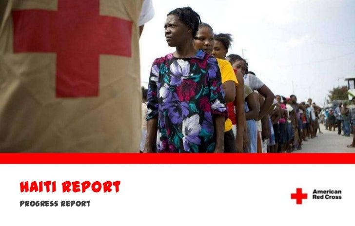 Haiti Report<br />Progress Report  <br />