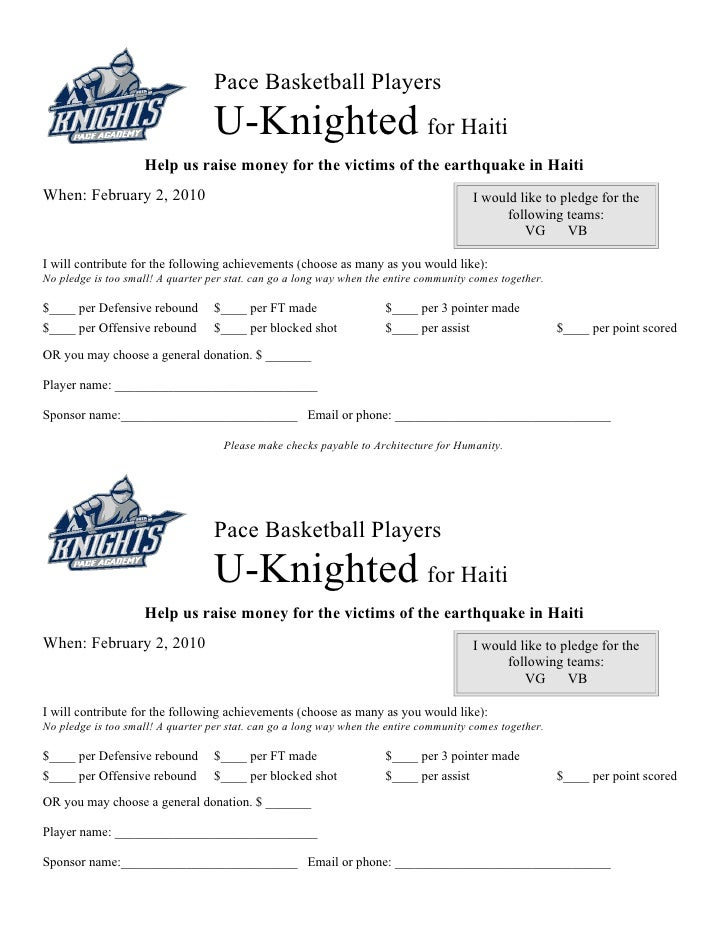 Pace Basketball Players                                    U-Knighted for Haiti                     Help us raise money fo...