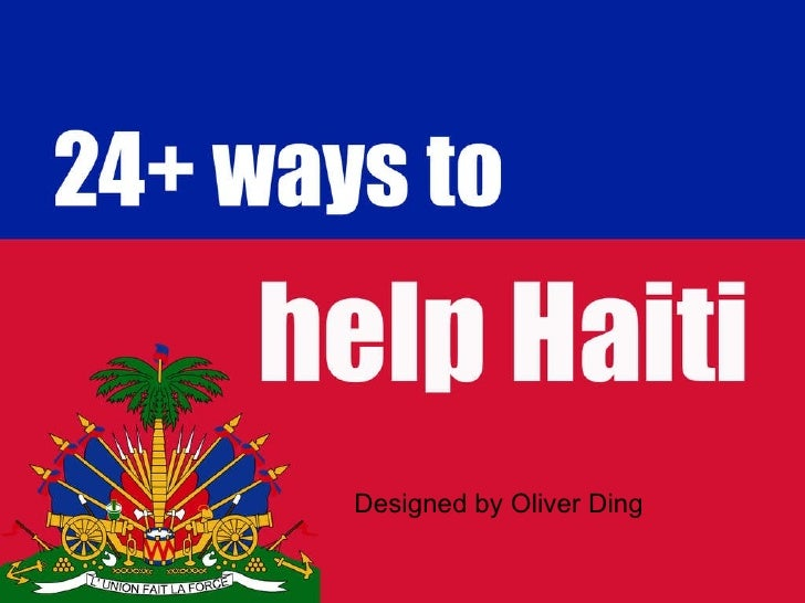 24+ ways to help Haiti