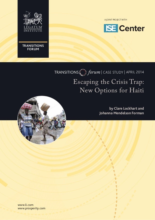 Escaping the Crisis Trap: New Options for Haiti