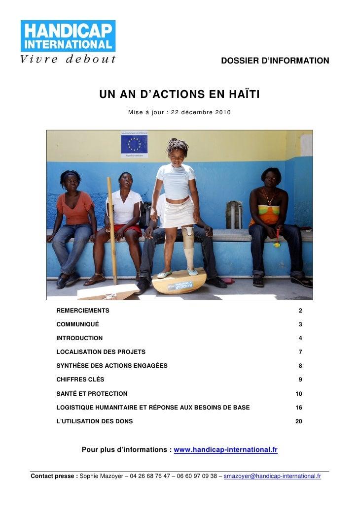 Haiti, un an après