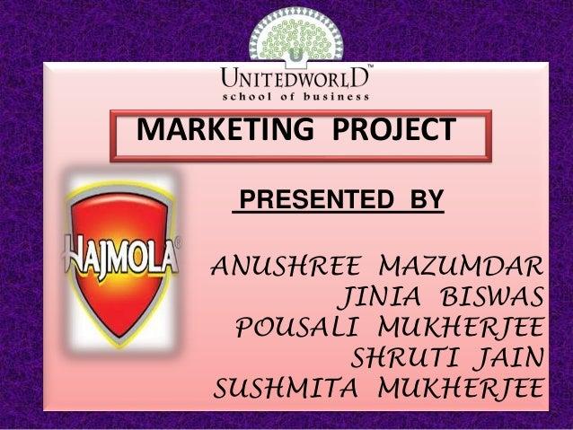 Presentation on  Porters 5 forces on Hajmola