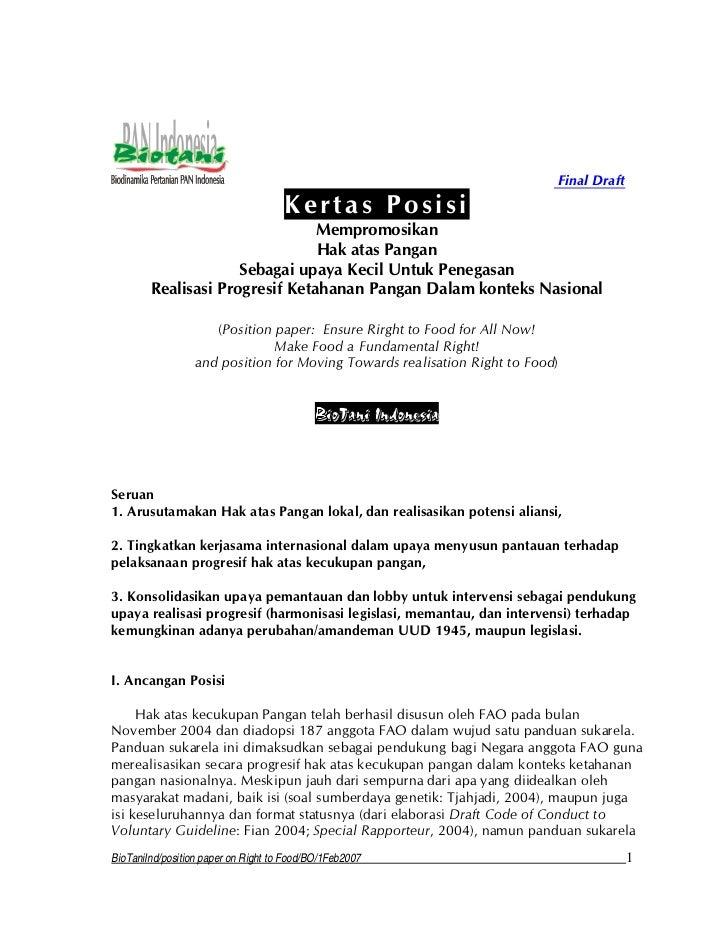Hak atas pangan pulau kecil position paper-biotani ind-fina_ldraft